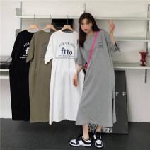 Dress Summer 2021 Army green, grey, white, black Average size singleton  18-24 years old More than 95%