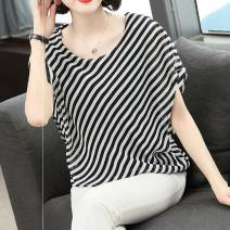 T-shirt Black black stripe XL recommended 130-145 kg, 2XL recommended 150-170 kg, 4XL according to the chest circumference to buy, weight is only recommended Crew neck easy other 96% and above Other Splicing, other