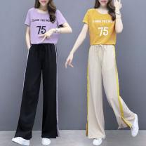 Fashion suit Summer 2021 S,M,L,XL,XXL Purple two-piece set, yellow two-piece set