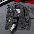 Jacket Other / other Youth fashion S,M,L,XL,2XL,3XL routine Self cultivation Other leisure spring Long sleeves Wear out square neck tide teenagers routine Single breasted 2021 Rib hem washing Loose cuff other Side seam pocket