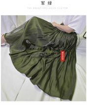 skirt Spring 2021 Average size Mid length dress commute High waist Pleated skirt Solid color Type A 71% (inclusive) - 80% (inclusive) Korean version 201g / m ^ 2 (including) - 250G / m ^ 2 (including)