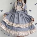 Dress Autumn of 2019 M,S,L Short skirt singleton  Long sleeves Sweet bishop sleeve princess