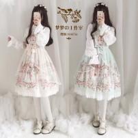 Dress Spring of 2019 Apricot jsk, green jsk S,L Short skirt singleton  Sleeveless Sweet middle-waisted Decor Socket Princess Dress other camisole 18-24 years old 30% and below Chiffon Lolita