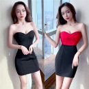 Dress Spring 2021 Red, black S,M,L,XL Short skirt singleton  Sleeveless commute High waist Solid color zipper One pace skirt routine backless