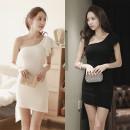 Dress Autumn 2020 White, black S,M,L,XL Short skirt commute Flying sleeve