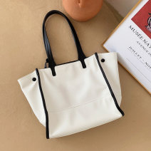Bag The single shoulder bag PU Wing bag Chu AI brand new Japan and South Korea large leisure time soft Magnetic buckle One shoulder hand Wing shape Color contrast Card position, zipper bag Artificial leather