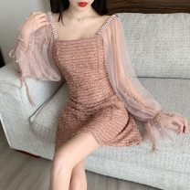 Dress Autumn of 2019 S,M,L singleton  commute 18-24 years old Other / other