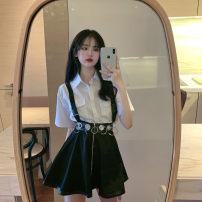 Fashion suit Summer 2020 Average size White shirt, black shirt, black skirt