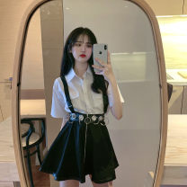 Fashion suit Summer 2020 Average size White shirt, black shirt, black skirt