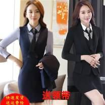 Professional dress suit S,M,L,XL,XXL,XXXL Autumn 2016 Long sleeves Shirts, coats, other styles Suit skirt 91% (inclusive) - 95% (inclusive) polyester fiber