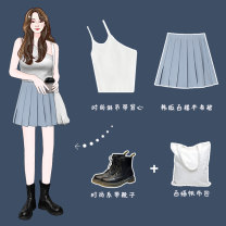 Fashion suit Summer 2021 Xs, s, m, l, average size Yellow, blue, white, black, green, rubber powder, apricot skirt, Navy skirt, grey blue skirt, light yellow skirt, coffee skirt 18-25 years old Other / other 96% and above