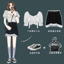 Fashion suit Summer 2021 S, M White top, black skirt 18-25 years old Other / other 31% (inclusive) - 50% (inclusive)
