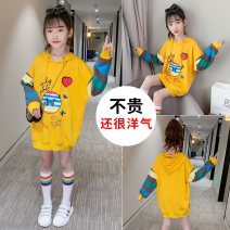 Sweater / sweater Other / other Yellow [butterfly], white [butterfly], black [Pikachu], orange [Pikachu] female spring and autumn No detachable cap Korean version Socket routine There are models in the real shooting cotton Cartoon animation Cotton liner