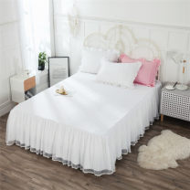 Bed skirt 120cmx200cm (stock), 135x200cm bed skirt (custom), 150x200cm bed skirt (stock), 180x200cm bed skirt (stock), 180x220cm bed skirt (custom), 200x220cm bed skirt (stock), a pair of pillowcases cotton White, sky blue, soft powder, bean green, bean paste, grey blue Parkson source Solid color
