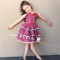 Dress gules female Other / other 80cm,90cm,100cm,110cm,120cm Flax 100% No season Skirt / vest lattice Cake skirt Class A 12 months, 9 months, 18 months, 2 years old, 3 years old, 4 years old, 5 years old Chinese Mainland Guangdong Province Dongguan City