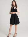Dress Winter of 2019 Off white, black Short skirt singleton  Sleeveless other middle-waisted Solid color zipper other 25-29 years old 9 Charms 9m
