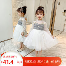 Dress Picture color female Little red fish 100cm,110cm,120cm,130cm,140cm,150cm Other 100% spring and autumn Korean version Long sleeves other other Splicing style Three, four, five, six, seven, eight, nine, ten, eleven, twelve Chinese Mainland Zhejiang Province Huzhou City