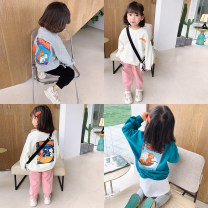 Sweater / sweater Little red fish Off white, light grey, peacock blue neutral 90cm,100cm,110cm,120cm,130cm,140cm spring and autumn nothing Korean version Socket routine There are models in the real shooting other Cartoon animation Other 100%