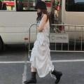 Dress Summer 2020 Off white, black Average size longuette singleton  Sleeveless commute High waist Solid color 18-24 years old Type A Korean version