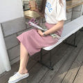 T-shirt Short sleeve T-shirt, skirt, pink S,M,L,XL Summer of 2018 Short sleeve Crew neck Straight cylinder Regular routine commute cotton 51% (inclusive) - 70% (inclusive) Korean version other Other / other