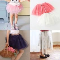 skirt 100cm, 110cm, 120cm, 130cm, 140cm, 95cm (7 yards) Sapphire blue, striped skirt, pink skirt, white skirt and light green skirt Other / other female Other 100% summer skirt lady Solid color Cake skirt cotton Class B