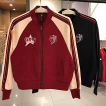 Sports jacket / jacket Guirenniao female 339 1091064 Spring of 2019 V-neck -2 magma, - 3 black, - 1 light apricot XS (adult), s (adult), m (adult), l (adult), XL (adult), XXL (adult)