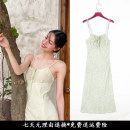 Dress Summer 2021 Dress S,M,L,XL Mid length dress singleton  Sweet High waist Decor Socket camisole 25-29 years old 51% (inclusive) - 70% (inclusive) cotton