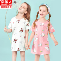 Home skirt / Nightgown NGGGN 100cm 110cm 120cm 130cm 140cm 150cm Cotton 100% White Girl Pink kitten lilac strawberry light pink mushroom yellow duckling light pink white horse summer female Home cotton N4449T87002 Spring 2021