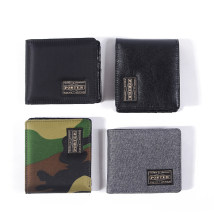 wallet Short Wallet cowhide Porter Leather black composite black light green camouflage hemp grey camouflage black brand new Japan and South Korea male