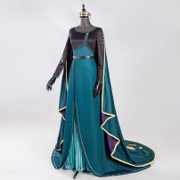 Cosplay women's wear suit goods in stock Over 8 years old Dress set (including dress) + Little coat + Cape + belt + To the crown) Animation, film and television L,M,S,XL,XXL,XXXL Butterfly House Europe and America Frozen Anna clothing