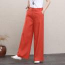 Casual pants Purple, black, white, orange, yellow, hemp S,M,L,XL,2XL,3XL,4XL Summer 2020 trousers Haren pants Versatile routine 25-29 years old 71% (inclusive) - 80% (inclusive) cotton cotton