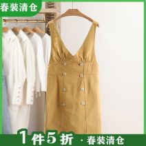 Dress Spring 2021 Yellow, white F Sleeveless Socket 25-29 years old Type H Other / other cotton