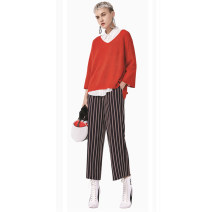 Casual pants Qingtiao S,M,L,XL Spring 2021 trousers Wide leg pants Natural waist commute routine 25-29 years old 96% and above Other / other other