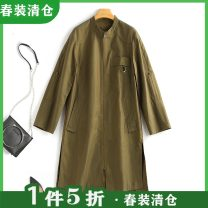 Windbreaker Spring 2021 S,M,L,XL Amber brown, olive green Long sleeves routine Medium length zipper Solid color Other / other S814021 51% (inclusive) - 70% (inclusive) cotton