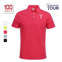 Golf apparel White black gray rose red fluorescent green S M L XL XXL XXXL male European Tour t-shirt  EM211PD122 Spring 2021 yes