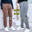 Women's large Winter 2020, autumn 2020, spring 2021 Khaki, grey 2XL [120-160 Jin], 3XL [170-210 Jin], 4XL [220-260 Jin], 5XL [270-300 Jin] trousers singleton  commute easy thickening Solid color Korean version cotton Three dimensional cutting 30-34 years old Bandage 81% (inclusive) - 90% (inclusive)