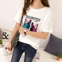 T-shirt S,M,L,XL,2XL,3XL Summer 2020 Short sleeve Crew neck Regular commute other 31% (inclusive) - 50% (inclusive) 18-24 years old Korean version