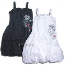Dress White, black female Other / other 120cm Cotton 100% Skirt / vest cotton Flower bud skirt Nine, six, eight, seven