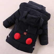 Cotton padded jacket male Detachable cap Cotton 96% and above Other / other Black, red, army green 110cm (L size 105-112cm height), 125cm (XXL size 120-127cm height), 120cm (XL SIZE 112-120cm height), 105cm (M size 95-105cm height) thickening Zipper shirt Korean version No model Cartoon animation