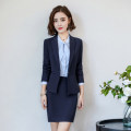 suit Spring 2021 Business suit + Half skirt business suit + trousers waistcoat + shirt + Half skirt waistcoat + shirt + trousers business suit + shirt + Half skirt business suit + shirt + trousers S M L XL XXL XXXL Long sleeves routine Self cultivation tailored collar A button commute routine Button