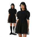 Dress Spring 2021 black S, M Short skirt singleton  Short sleeve Lotus leaf collar High waist Solid color zipper A-line skirt puff sleeve Others 18-24 years old Type A or809 More than 95% other other