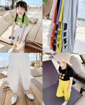 trousers Other / other neutral 90, 100, 110, 120, 130, 140 White, yellow, gray, black, blue summer trousers Korean version No model Casual pants Leather belt middle-waisted other Don't open the crotch Other 100% Class B Anti mosquito trousers