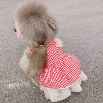 Pet clothing / raincoat currency Dress Glutinous rice princess Black check, red check