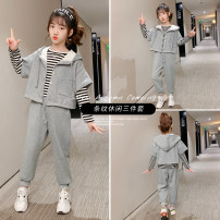 suit Other / other grey Size 110 (for height about 105cm), Size 120 (for height about 115cm), Size 130 (for height about 125cm), size 140 (for height about 135cm), size 150 (for height about 145cm), size 160 (for height about 155cm), size 170 (for height about 165cm) female spring and autumn motion