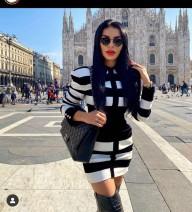 Dress Autumn 2020 S,M,L,XL Short skirt singleton  Long sleeves commute stand collar High waist lattice One pace skirt routine Others Type X Simplicity