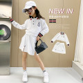 suit Other / other white female summer leisure time Long sleeve + skirt 2 pieces There are models in the real shooting Socket nothing Solid color other children Giving presents at school H871 7, 8, 14, 3, 6, 13, 11, 5, 4, 10, 9, 12 Chinese Mainland