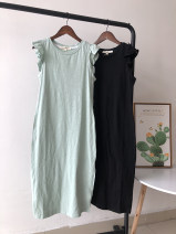 Dress Summer of 2019 Black, bean green S,M,L singleton