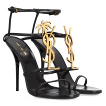 Sandals PU Other / other Barefoot Fine heel Super high heel (over 8cm) Summer 2020 Flat buckle Europe and America Solid color Adhesive shoes Youth (18-40 years old) rubber banquet Ankle strap Low Gang Lateral space Microfiber skin Microfiber skin Flat buckle Shaving