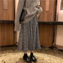 skirt Autumn 2020 Average size White, black Mid length dress commute High waist A-line skirt Broken flowers Type A 18-24 years old 51% (inclusive) - 70% (inclusive) other polyester fiber Korean version