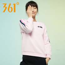 Sportswear / Pullover L (adult), XL (adult), 2XL 361° Shell powder female Socket Crew neck Brand logo, pattern cotton Sports & Leisure Breathable and warm Women's training